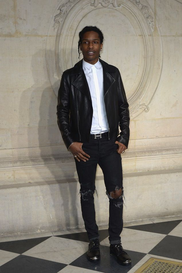 ASAP Rocky Wears Dior Homme Metal Toe Derby Shoes During Paris Fashion Week  | UpscaleHype