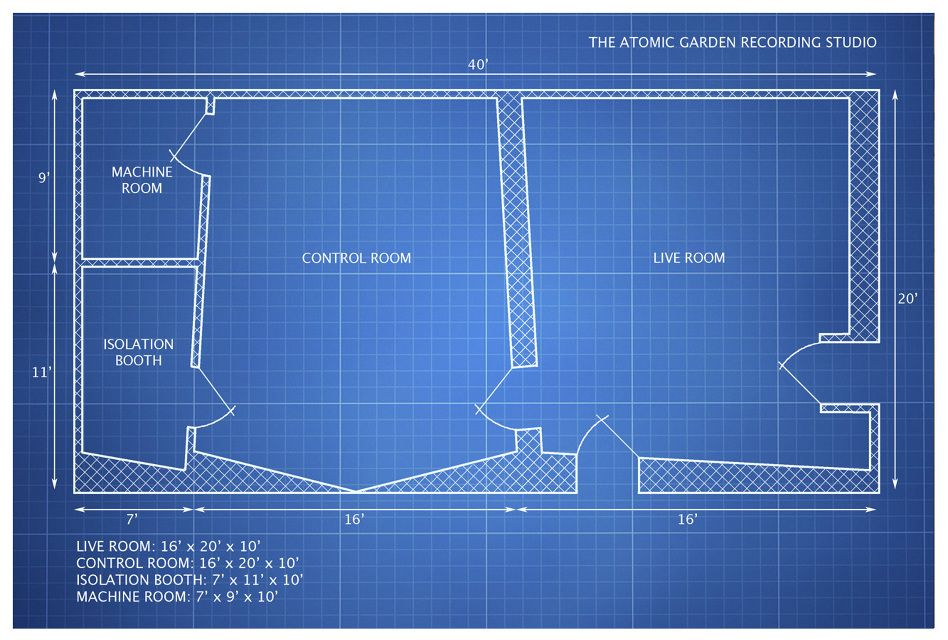 The Atomic Garden Recording Studio Layout Recording Studio Studio Layout Studio