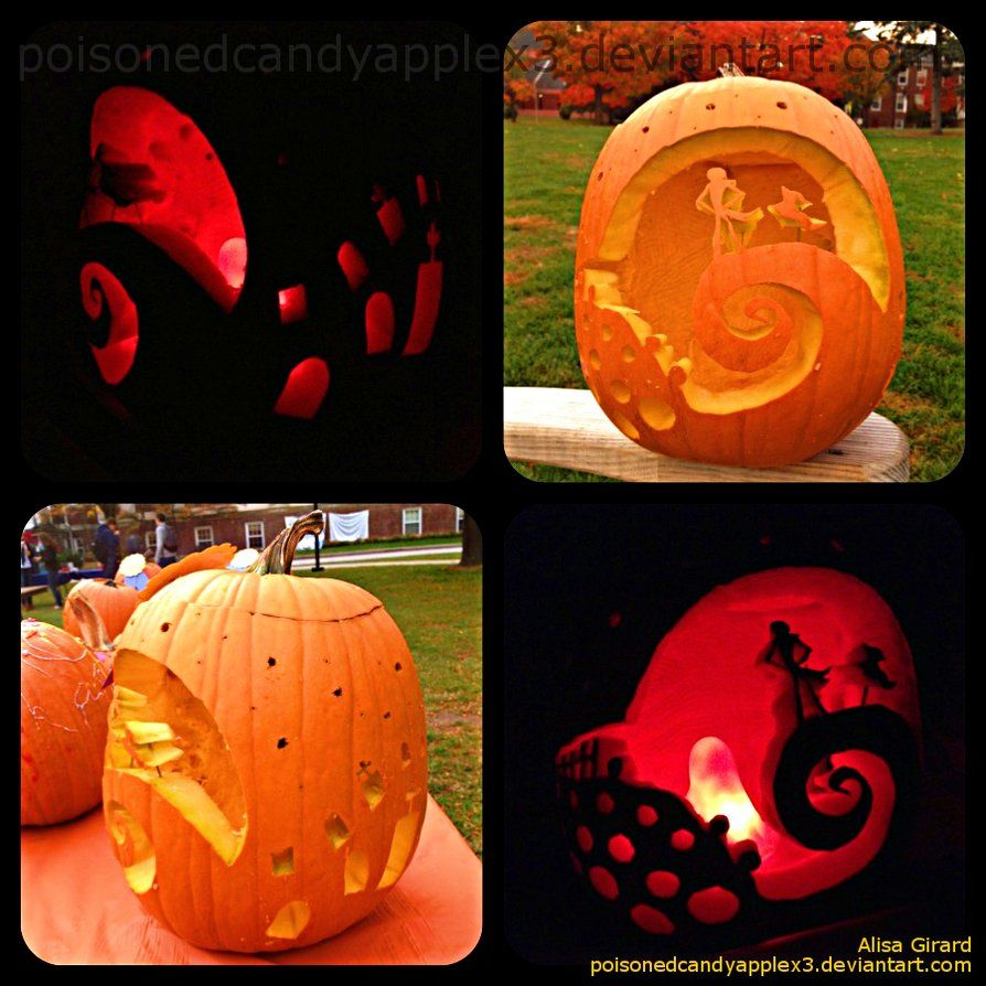the nightmare before christmas pumpkin stencils free - Google Search ...