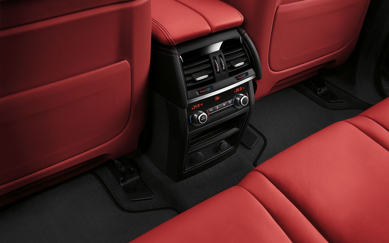 The Bmw X5 M With Full Fine Grain Mugello Red Merino Leather