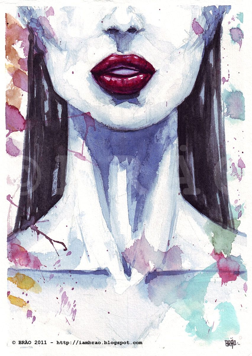 submission byiambrao(thanks) Face. Watercolor painting.