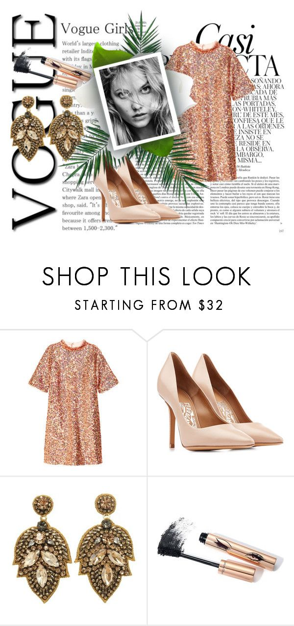 """""""Untitled #84"""" by lidiaaa18 ❤ liked on Polyvore featuring Whiteley, H&M, Salvatore Ferragamo and Nika"""
