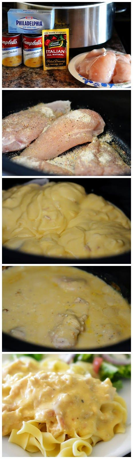 Crock Pot Creamy Italian Chicken   lookchef is part of Chicken crockpot recipes -