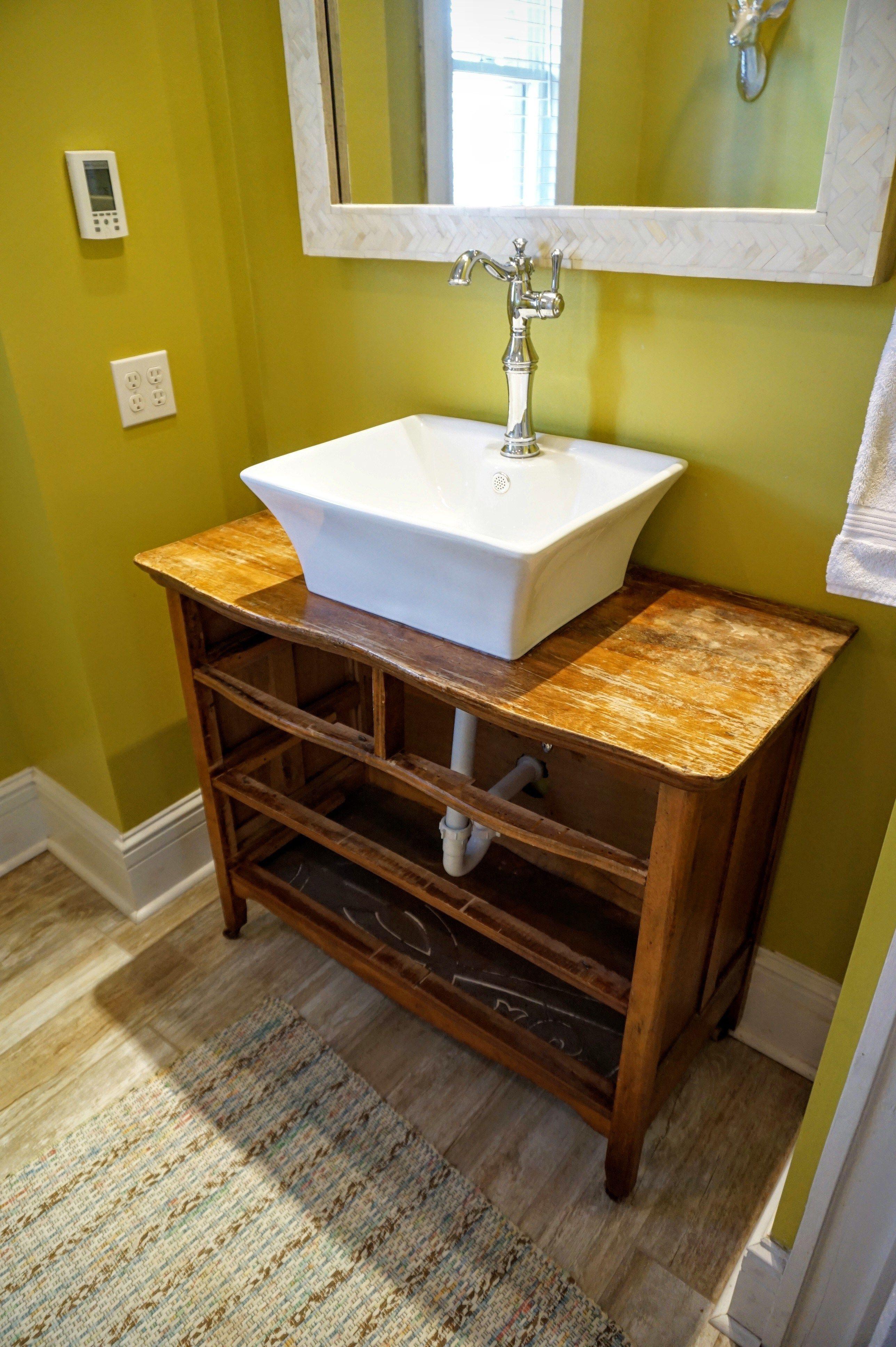 top bathroom vanity made from an old table is it possible on custom bathroom vanity plans id=55026