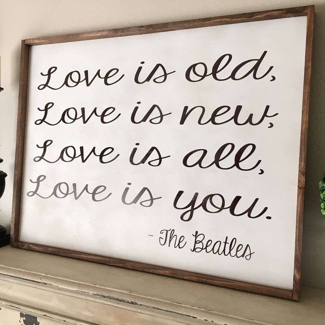 The Beatles,All ytou need is love,Bedroom Sign,Farmhouse Decor,Rustic home decor,Anniversary gift,Above the bed Sign,Entryway Sign by SplendidExpressions on Etsy #DIYHomeDecorQuotes