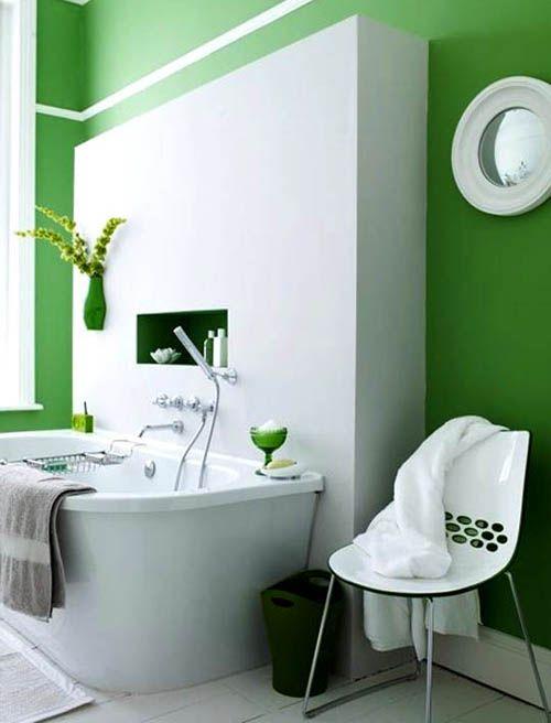 Sweet Peach Home I Like Green Bright Green Bathroom