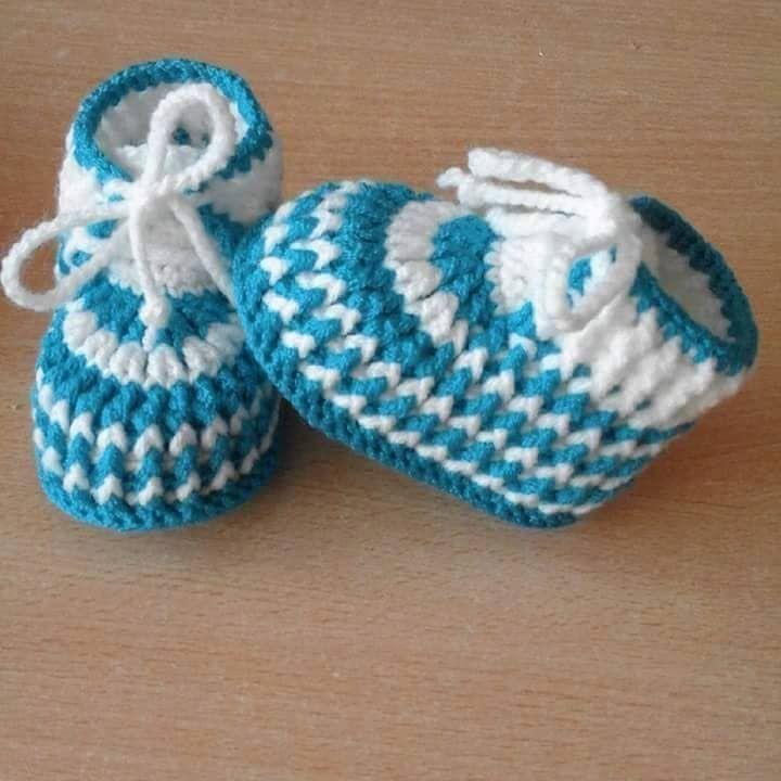 CROCHET BOOTIES STEP BY STEP | Sapatinhos de Bebê em Crochê | Pinterest