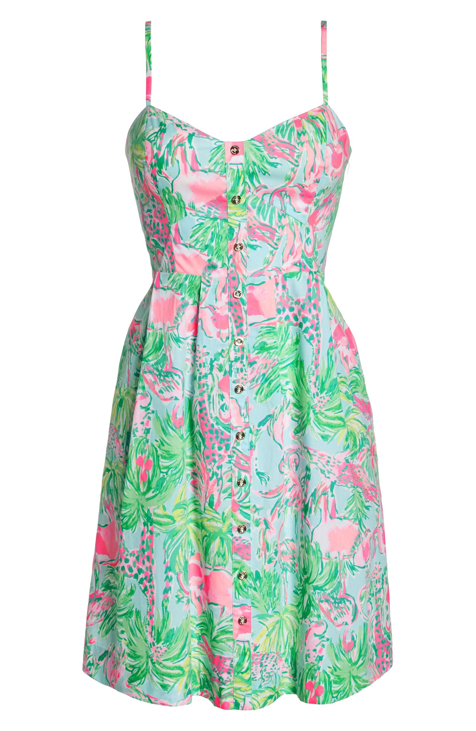 cdc592c9f6b Lilly Pulitzer Easton Sundress - Seasalt Blue On Parade