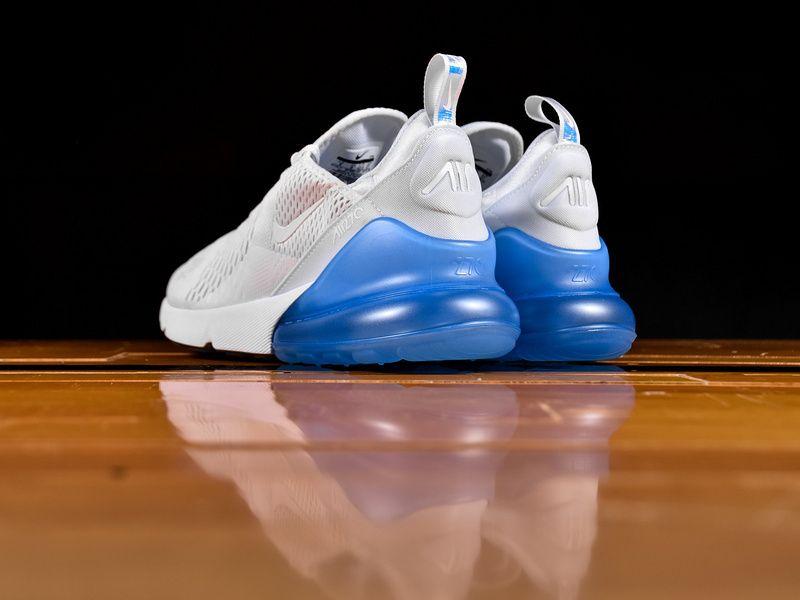 new style 23c6c fdf3a Legit Cheap New Nike Air Max 270 Blue White Metallic Silver AQ7982 100 2018  Spring Summer Womens