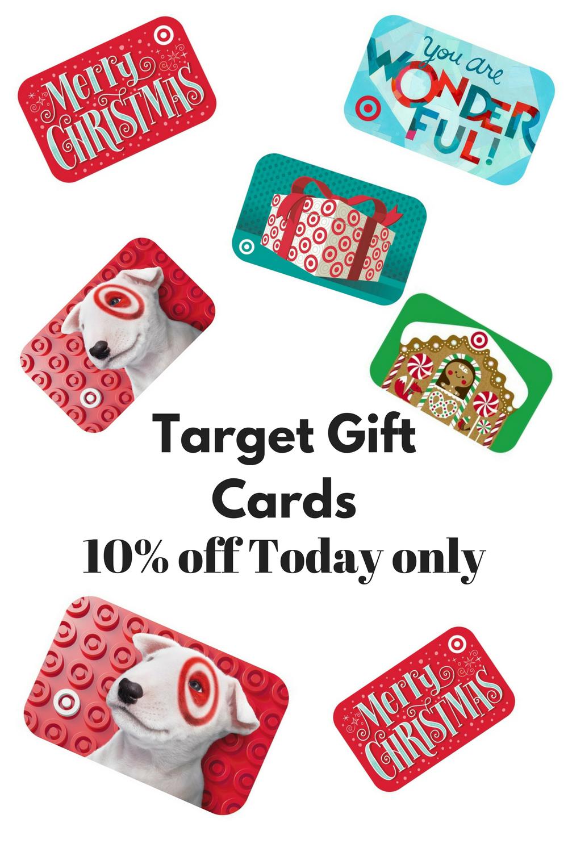 Rare Target gift card sale. 10% off Target gift cards. visit target ...