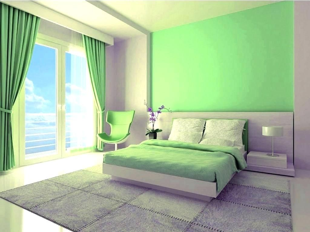 Green Color Bedroom Walls Paint Colors