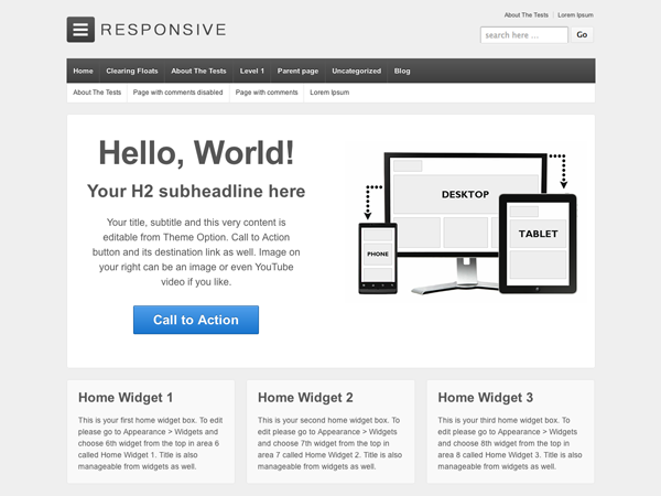 WordPress › Responsive « Free WordPress Themes