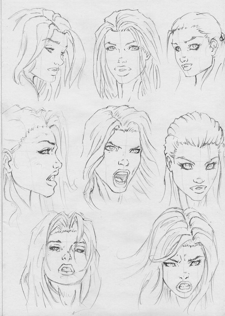 Female Facial References Comic Face Character Drawing Comic Drawing