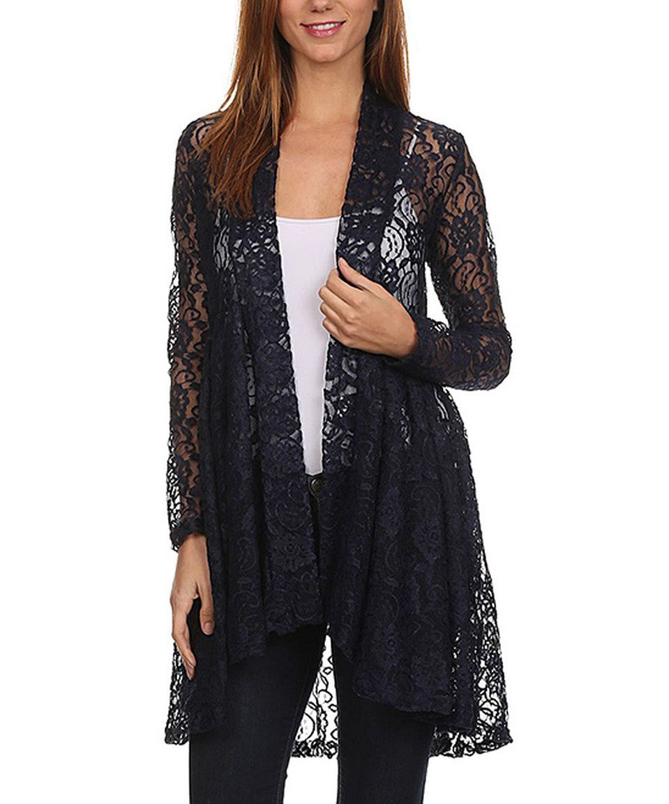 Pretty Young Thing Navy Floral Lace Cardigan | Floral lace, Navy ...