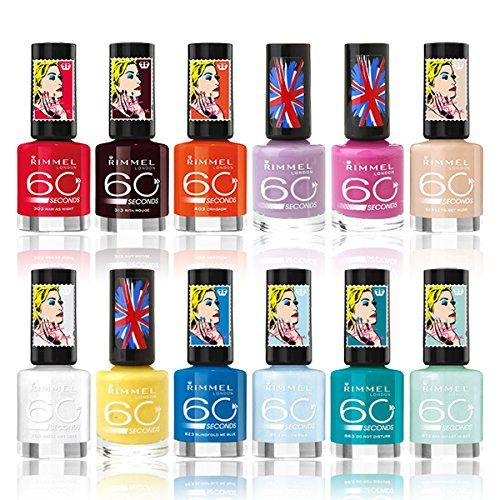 Rimmel London 60 Seconds Nail Polish Color Lacquer Set 12-Piece Collection ** See this great product.