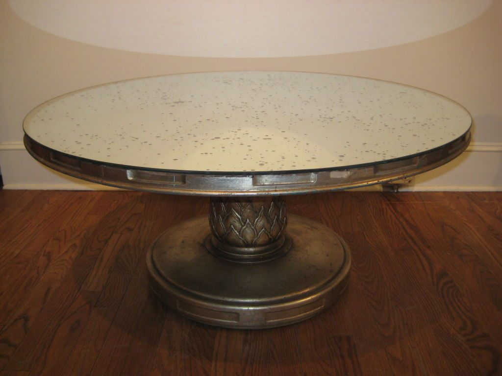 Silver Leaf Coffee Table With Mercury Glass Mirror From A Unique Collection Of Antique And Modern Coffee And Mirrored Coffee Tables Coffee Table Cool Mirrors [ 768 x 1024 Pixel ]