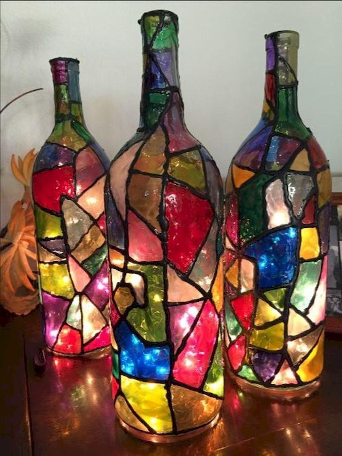 40 Fantastic Diy Wine Bottle Crafts Ideas With Lights 16 In 2020 Diy Bottle Crafts Wine Bottle Diy Crafts Bottle Crafts