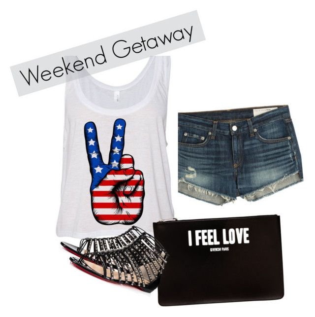 """Weekend getaway"" by hadorrell on Polyvore featuring beauty, rag & bone, Givenchy, Christian Louboutin and topic"