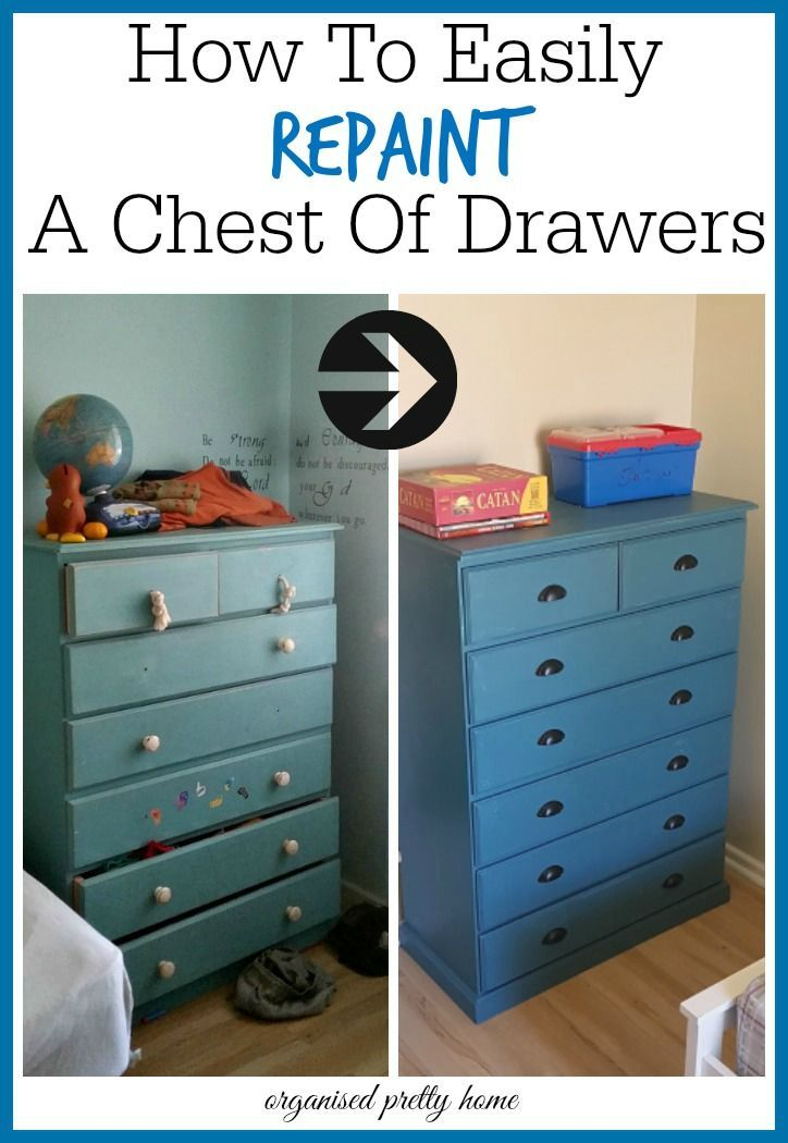 How To Easily Repaint A Chest Of Drawers Painting Kids