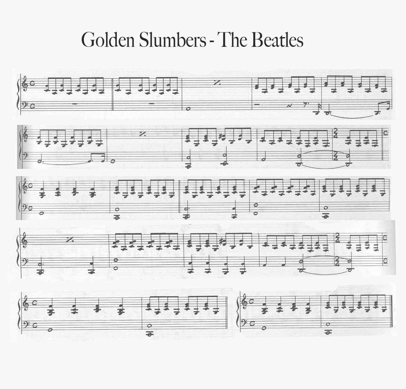 Golden Slumbers By The Beatles