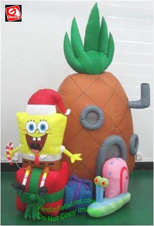 Gemmy Airblown Inflatable Mixed Media Spongebob ...