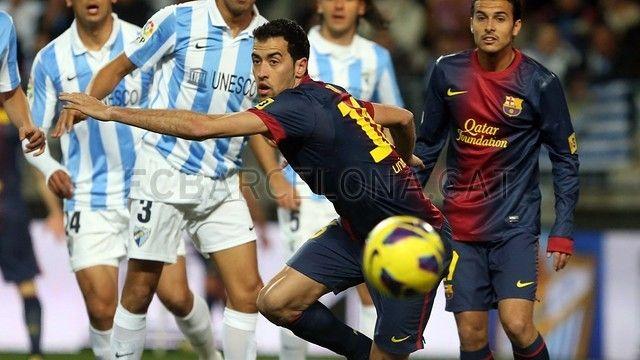 Sergio Busquets & Pedro, FC Barcelona | Málaga 1-3 FC Barcelona | 2013-01-13 MALAGA-BARCELONA.