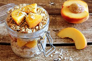 Honey-Peach-Overnight-Oats