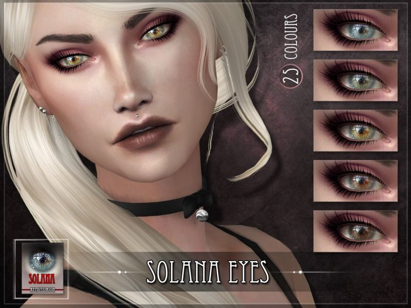 Solana Eyes for the Sims 4 Found in TSR Category 'Sims 4 Eye Colors