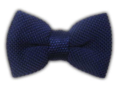 Knitted Blue Knit Bow Tie Blue Bow Tie Men Navy Bow Tie Mens Bow Ties