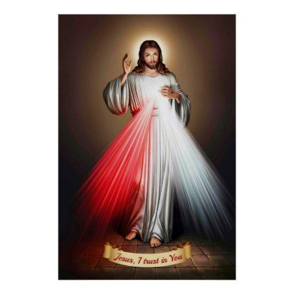 Divine Mercy Devotional Image. Poster
