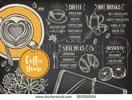 Coffee Restaurant Brochure Vector Coffee Shop Menu Design Vector