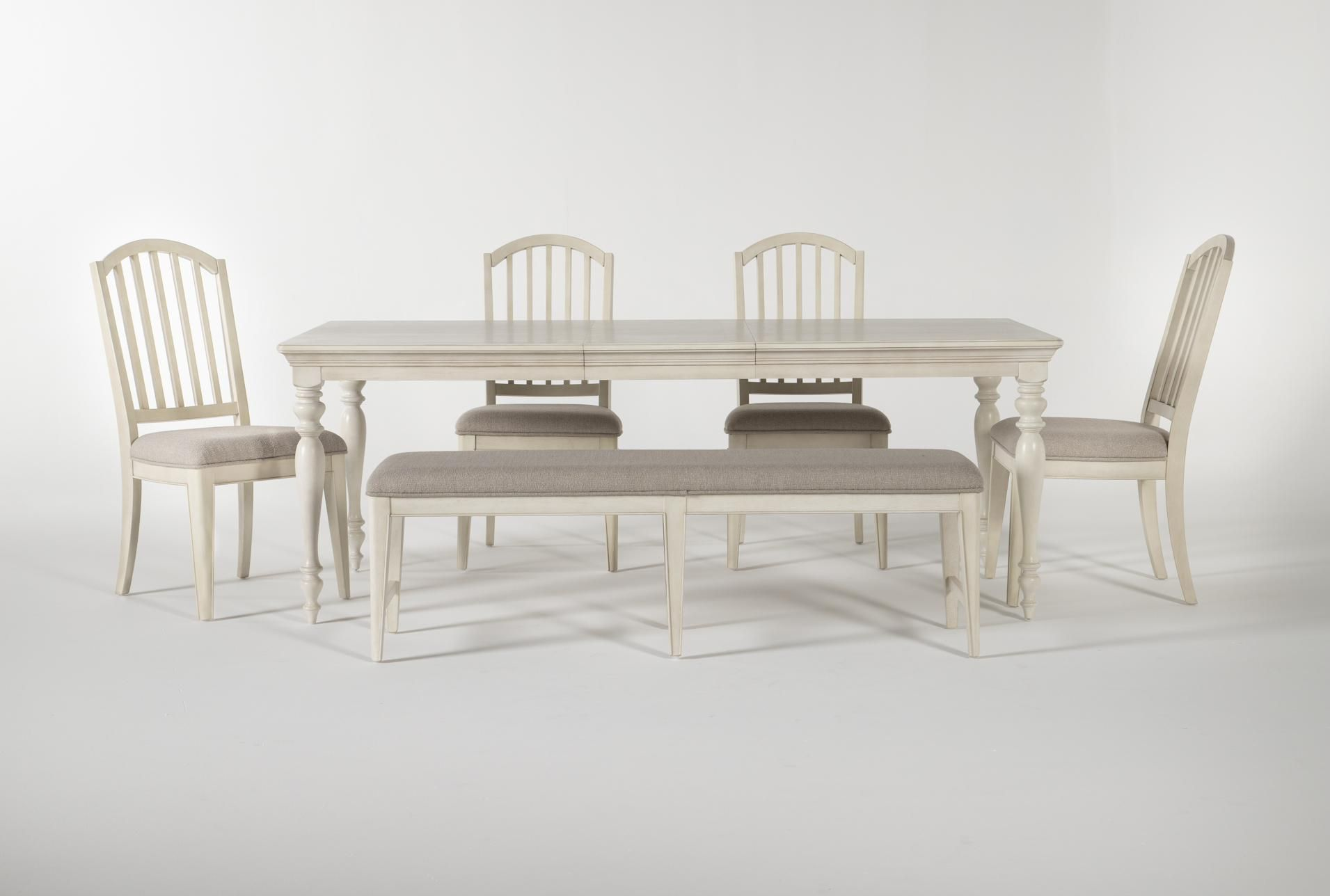 Kincaid 6 Piece Rectangle Dining Set With Backless Dining Bench Rectangle Dining Set Dining Bench Dining Table Legs