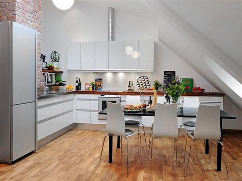 Kitchen Designs, White Style Of The Kitchen 3d Floor Planing ...