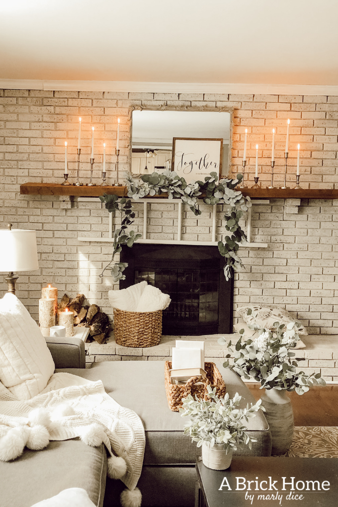 Cozy Winter Decor In My Living Room Fixer Upper