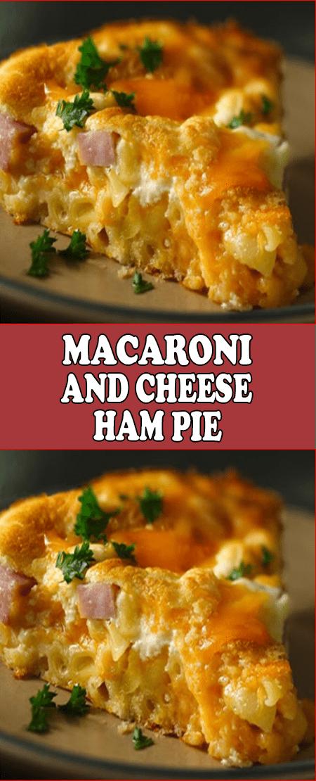 Macaroni And Cheese Ham Pie Recipesyummi Ham Pie Macaroni And Cheese Bisquick Recipes