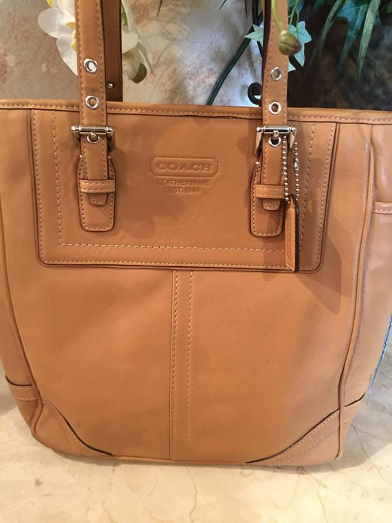 d3422aea67 buy vintage camel leather coach bag authentic genuine leather e55ce 60e97