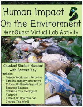 Human Impact On The Environment Webquest With Images Human