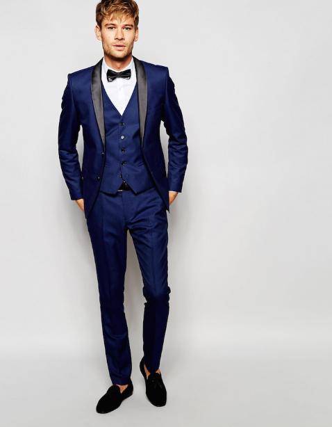 8954c3e3e4b94 Mavi Takım Elbise Modelleri - 2019 Takım Elbise Modelleri   Takım ...