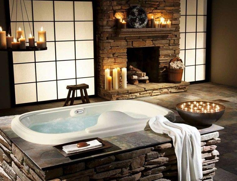 romantico velas rustico creativo iluminacion Interiores para baños