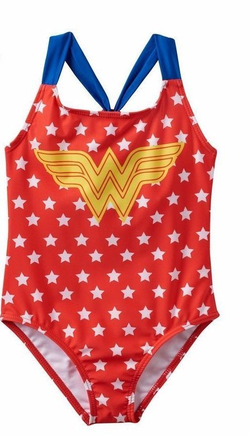 Wonder Woman Racerback One Piece Swimsuit 4 56 6x Wonderwoman