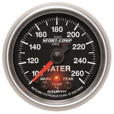 Autometer 3654 Sport Comp Pc Water Temperature Gauge 2 1 16 100 250 Deg F In 2020 Gauges Led Warning Lights Gauge Kit