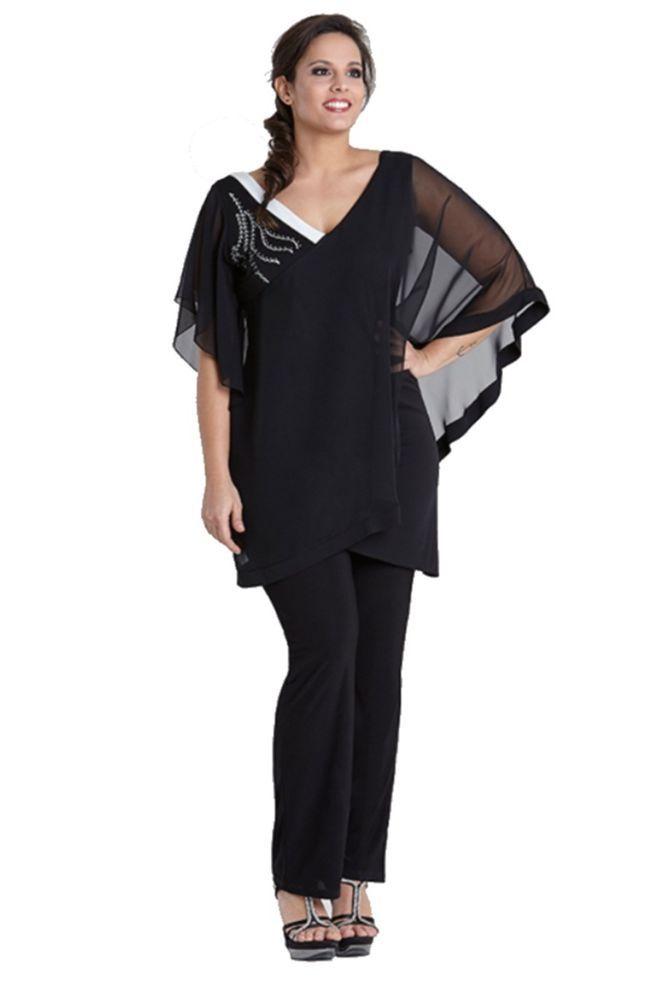 completo pantalone casacca donna lady xl 0473 taglie forti l xl xxl xxxl 4xl