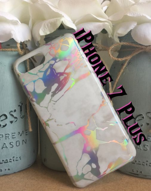 more photos dd76e bd0d7 iPhone 7 Plus Holographic Marble Case | eBay | Right here on ebay ...