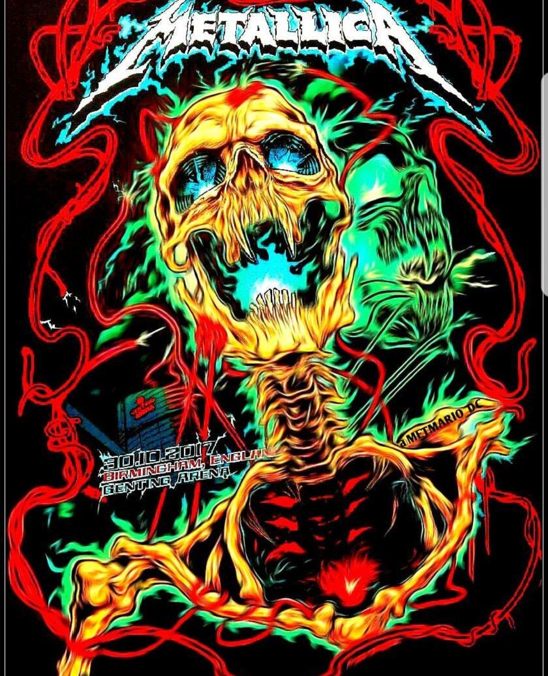 Metallica Birmingham England With Images Metallica Art