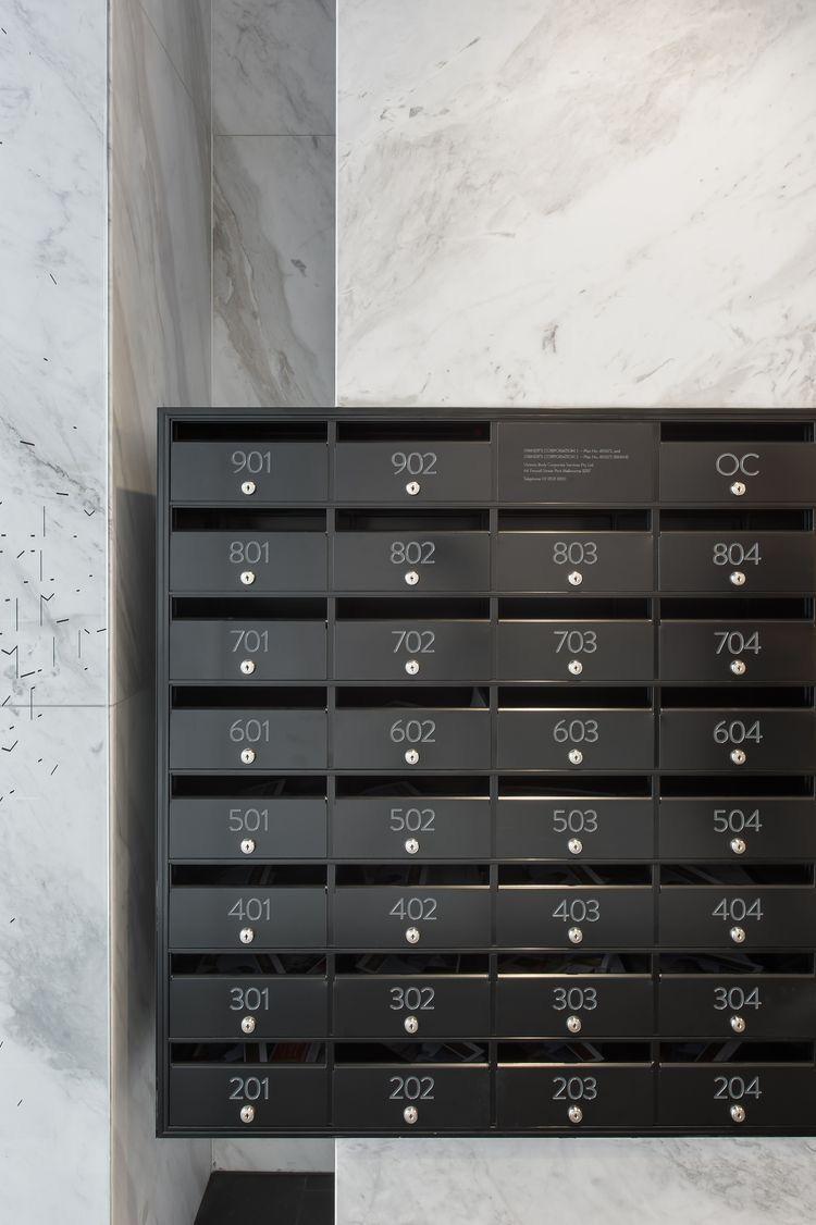 Pin By Tharika Ongks On M A I L R O O M Lobby Design Mailbox Design Apartment Mailboxes