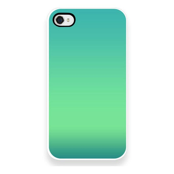 iPhone Case - Seaside Ombre - Blue - Green - Turquoise - iPhone 4 - iPhone 4S found on Polyvore