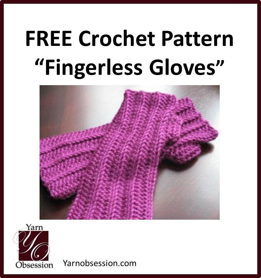 Easy free pattern for crochet fingerless gloves from yarn easy free pattern for crochet fingerless gloves from yarn obsession beginner pattern with links to bankloansurffo Image collections