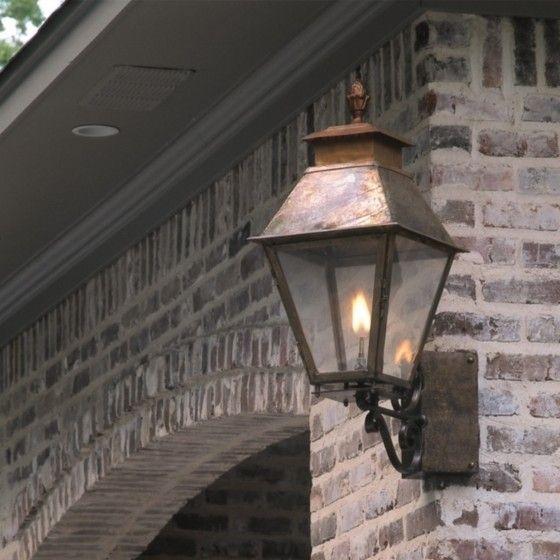 Vicksburg wall mounted lantern with corner bracket outdoor the vicksburg lantern gas or electric aloadofball Images
