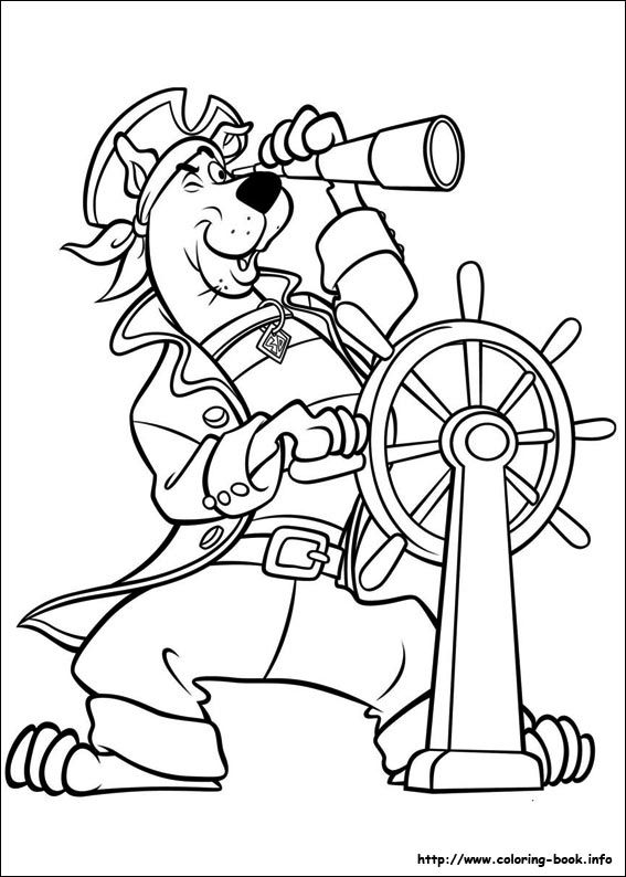 scooby dou coloring picture