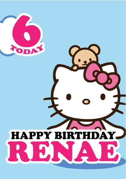 Hello Kitty Personalised Kids Birthday Card A5 – Personalised Kids Birthday Cards